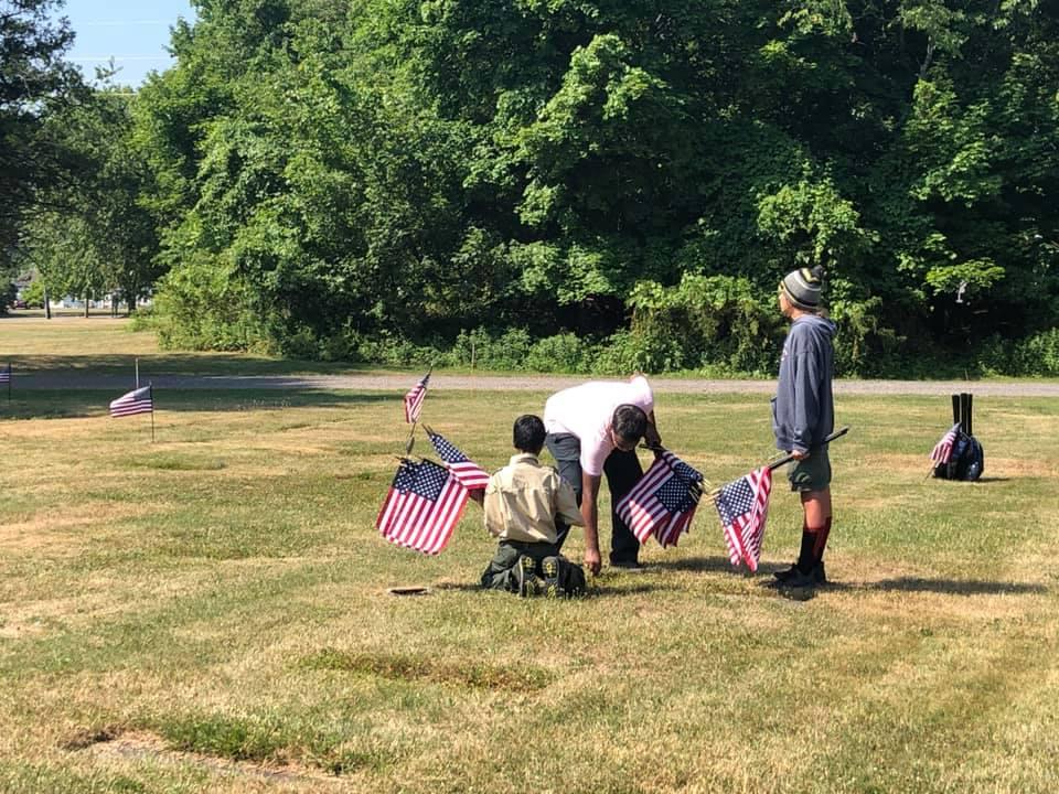 Flag planting 4